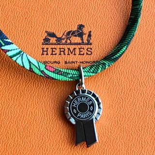 Hermes - エルメス  ⭐︎トゥールビヨン  ・シルクネックレス   ブレスレット・シルバー