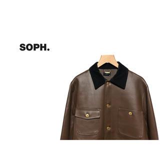 ソフ(SOPH)のSOPH. コーティング カバーオール / ソフ ワークジャケット レザー(カバーオール)
