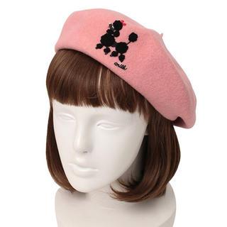 ミルク(MILK)のMILK ミルク プードル ベレー ピンク(ハンチング/ベレー帽)