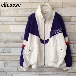 ellesse - 【人気】ellessse エレッセ ナイロンジャケット ホワイト×パープル L
