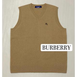 バーバリーブルーレーベル(BURBERRY BLUE LABEL)のバーバリー ベージュ ニットベスト M(ベスト/ジレ)