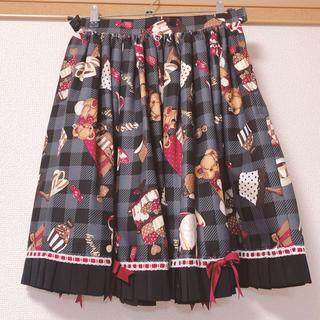 アンジェリックプリティー(Angelic Pretty)の夢見るプレゼントスカート 黒(ひざ丈スカート)