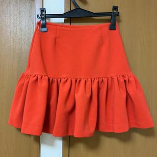 オレンジスカート(ミニスカート)