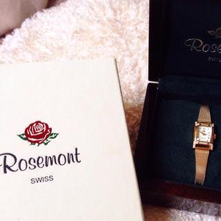 アガット(agete)のRosemont 未使用 ゴールド腕時計(腕時計)