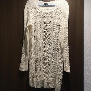 ルシェルブルー(LE CIEL BLEU)のかぎ編み ニット 麻 春夏(カットソー(長袖/七分))