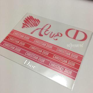 クリスチャンディオール(Christian Dior)の非売品! バレンタイン限定 ステッカー ショップ袋 シール(ショップ袋)