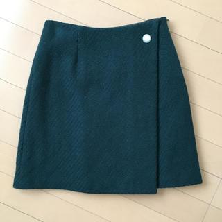 ナチュラルビューティーベーシック(NATURAL BEAUTY BASIC)のナチュラルビューティーベーシック ✴︎ スカート ✴︎ グリーン(ひざ丈スカート)