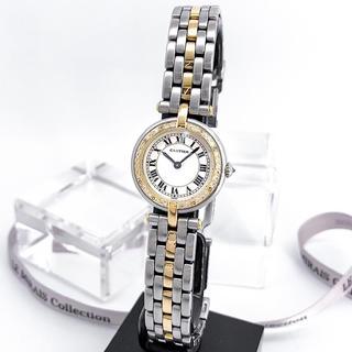 Cartier - 【仕上済】カルティエ パンテール ラウンド ダイヤ コンビ レディース 腕時計