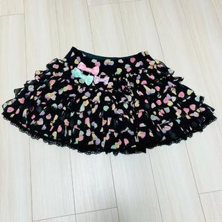 アンジェリックプリティー(Angelic Pretty)の【美品】AngelicPretty SugarHearts スカート(ひざ丈スカート)