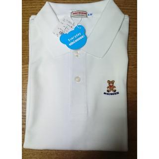 mikihouse - ミキハウス 大人用 ポロシャツ 白 レディース S 新品 150 160 半袖
