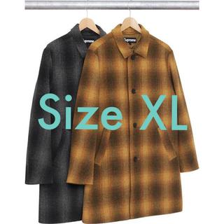 Supreme - XLサイズ Supreme Shadow Plaid Wool Overcoat