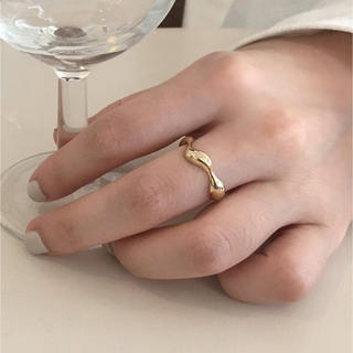 TODAYFUL - Silver925 18kgp_ Wavy plump ring