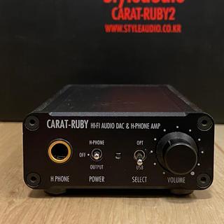 【箱付美品】ヘッドホンアンプ USB DAC carat ruby 2