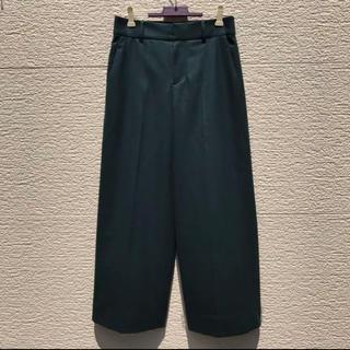 ニジュウサンク(23区)の新品 23区 ワイドパンツ グリーン  緑 36(カジュアルパンツ)