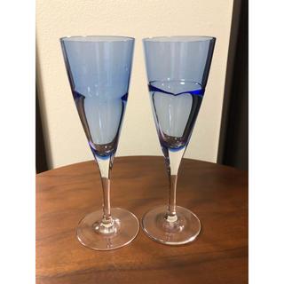 スガハラ(Sghr)のsghr♦︎デュオ ワイングラス ブルー ペア(グラス/カップ)