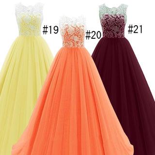 カラードレス イエロー 黄色(ロングドレス)