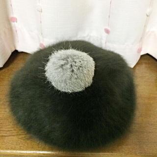 ジエンポリアム(THE EMPORIUM)のラビットファーベレー帽(ハンチング/ベレー帽)