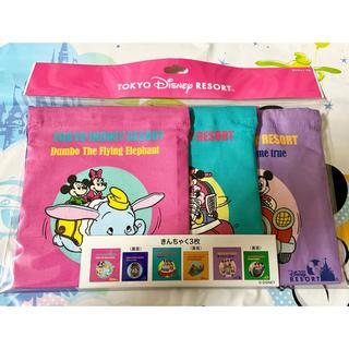 Disney - 《新作》ディズニーレトロ♡きんちゃく 3枚