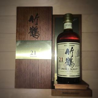 ニッカウヰスキー - ニッカ ウイスキー 竹鶴21年 木箱付