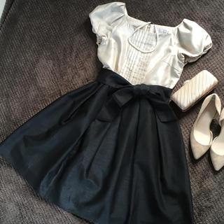 クチュールブローチ(Couture Brooch)のクチュールブローチ パーティードレス バイカラー(ミディアムドレス)