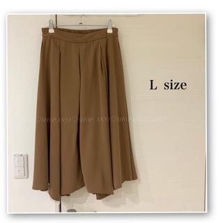 ダブルクローゼット(w closet)のミモレ丈スカート♡ミディアム♡ブラウン♡茶♡デザイン♡フレアスカート(ひざ丈スカート)