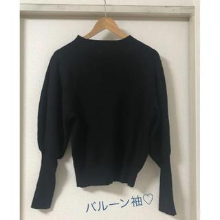 GU - ニット バルーン袖 GU 美品 黒 ブラック
