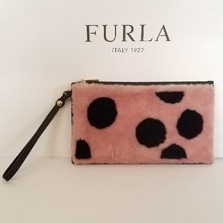 Furla - 【FURLA】ふわふわムートン BABYLONレザークラッチバック 新品