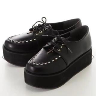 アンクルージュ(Ank Rouge)のクロスチャームラバーソール(ローファー/革靴)