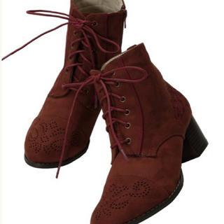 アクシーズファム(axes femme)のもえ様専用新品アクシーズファムメダリオン編み上げブーツ(ブーツ)