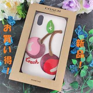 COACH - ❤新品 未使用❤ コーチ iPhoneケース Xr用 モバイルケース サクランボ