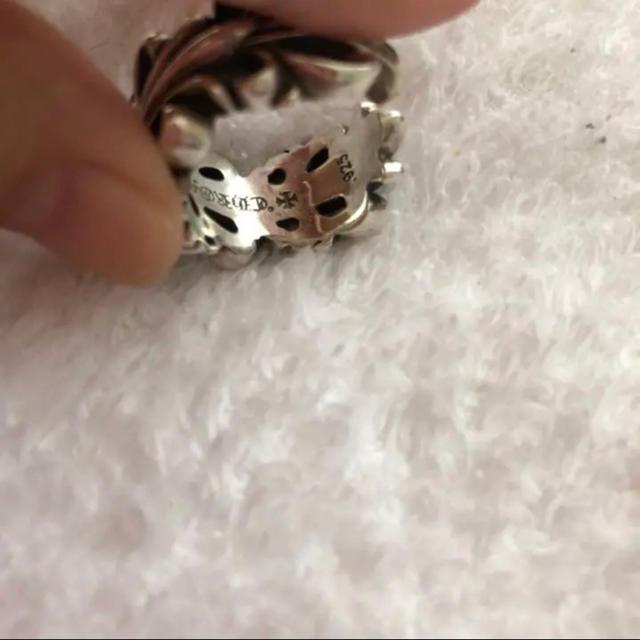 Chrome Hearts(クロムハーツ)のchrome hearts ダブルフローラルクロスリング メンズのアクセサリー(リング(指輪))の商品写真
