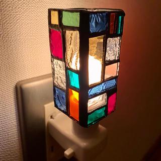 レトロな光 ステンドグラス フットライト  116