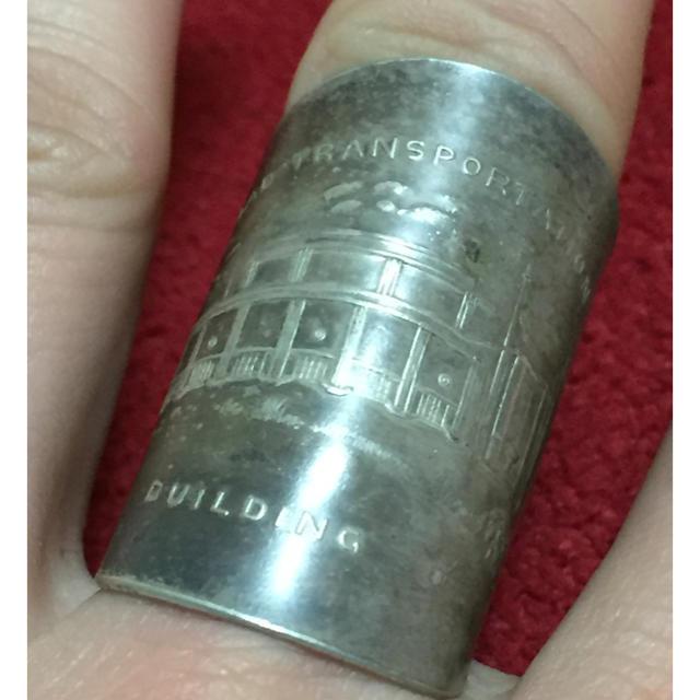 アンティーク スプーンリング 17号 調可 60s USA 鉄道輸送ビル 633 メンズのアクセサリー(リング(指輪))の商品写真