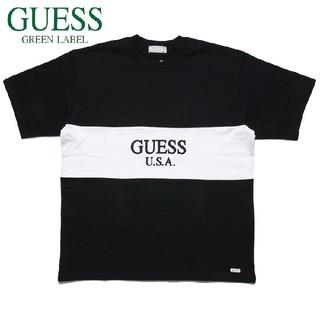 ゲス(GUESS)の新品 GUEES ゲス 2TONE TEE ブラック S(Tシャツ(半袖/袖なし))