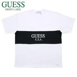 ゲス(GUESS)の新品 GUEES ゲス 2TONE TEE ホワイト S(Tシャツ(半袖/袖なし))
