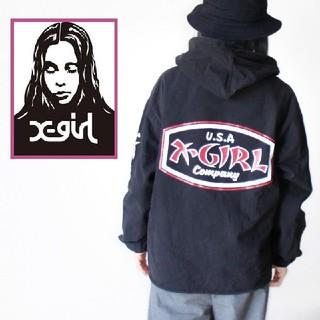 X-girl - 【完売品!】X-girl 前後Wロゴ 綿100ジャケット ブーティー フルジップ
