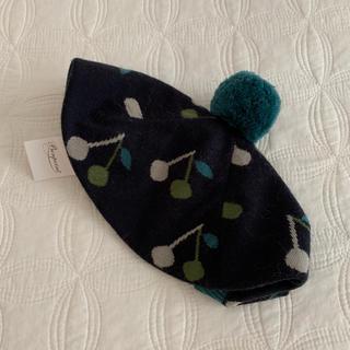 Bonpoint - ボンポワン  チェリー柄ニット帽