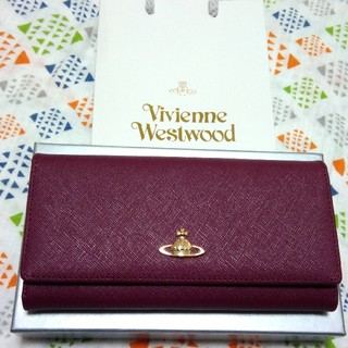 Vivienne Westwood -  ♡新品未使用♡ ヴィヴィアン ワイン 紫 長財布 バッグ クラッチ パーティ