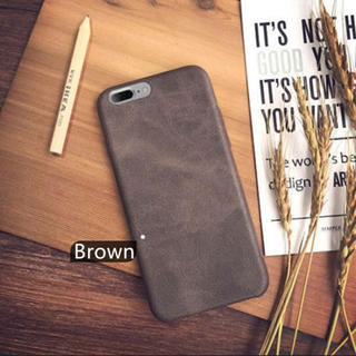 新品 レザー iPhoneケース ブラウン iPhonex カバー(iPhoneケース)