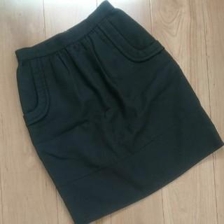 エポカ(EPOCA)の美品エポカ    膝丈スカート   黒   38(ひざ丈スカート)