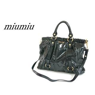 miumiu - miumiu ミュウミュウ トートバッグ 2way ブラック