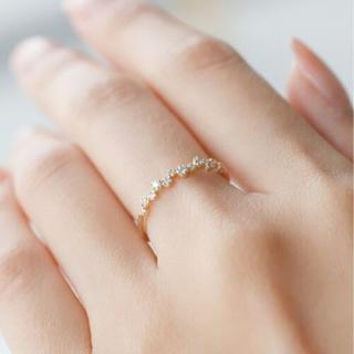アーカー(AHKAH)のSiena 重なりリング(リング(指輪))