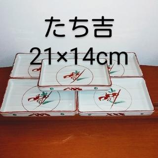 タチキチ(たち吉)の5枚組 たち吉 橘吉 赤絵 角皿 (食器)