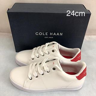コールハーン(Cole Haan)の未使用 コールハーン スニーカー 赤 24cm COLE HAAN(スニーカー)