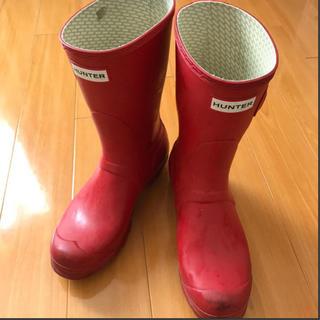 ハンター(HUNTER)のHUNTER レインブーツ レッド 24cm(レインブーツ/長靴)