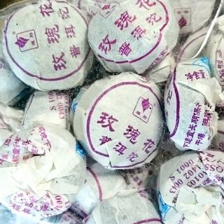★プーアル花茶 薔薇沱茶 バラの花入り小とう茶 30個★(茶)