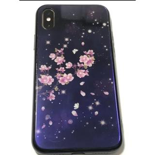 アイフォーン(iPhone)の桜柄 iPhone XS用 お洒落ケース(iPhoneケース)