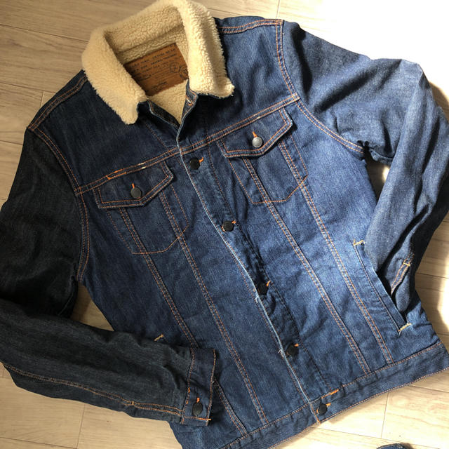 ZARA(ザラ)のZARA ボア デニムジャケット Gジャン メンズのジャケット/アウター(Gジャン/デニムジャケット)の商品写真