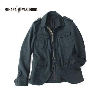 ミハラヤスヒロ(MIHARAYASUHIRO)のMIHARA YASUHIRO  ウールメルトン◎ミリタリージャケット(ミリタリージャケット)
