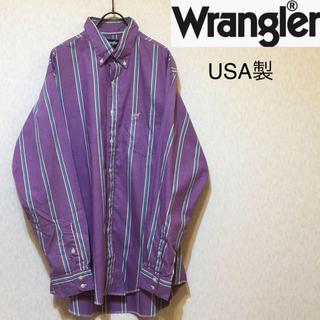 Wrangler - 【希少 USA製 80〜90s 】Wrangler オールド ストライプ シャツ
